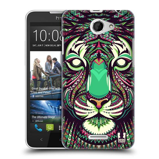 Head Case Designs Tiger Aztec Animal Faces Protective Snap-on Hard Back Case Cover for HTC One M8