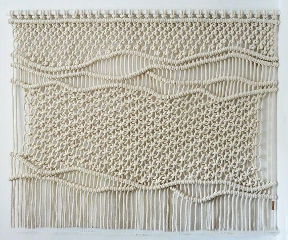 Pared de Tucan Macrame Macrame colgante   moderno   tapiz   tapiz - tapices modernos
