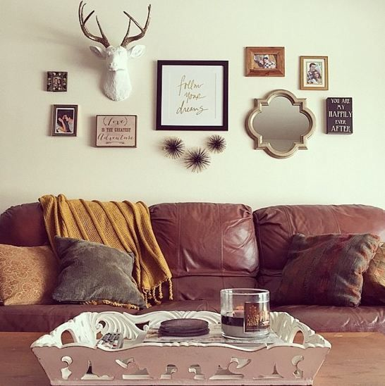 The Lydia White Deer Head Wall Mount W Bronze Antlers Faux Taxidermy Deer Heads Living Room Wall Decor Living Room Home Decor Deer antler living room decor