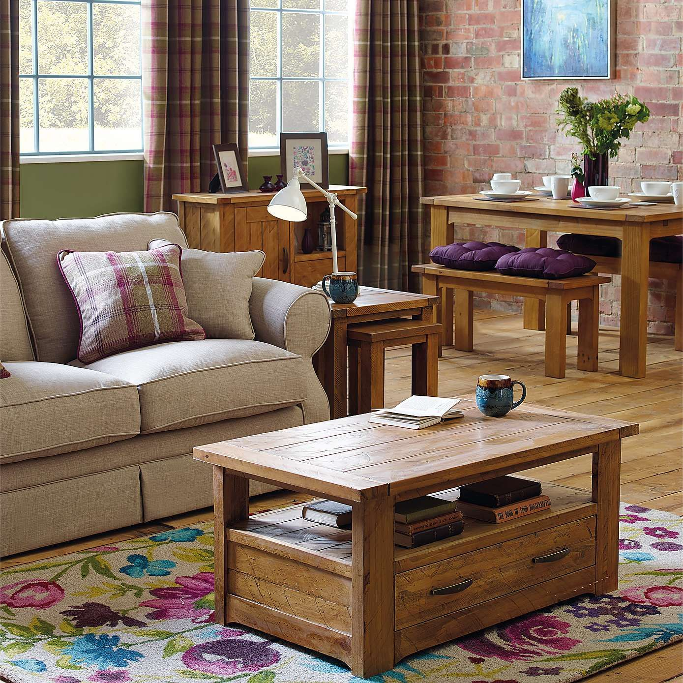 Loxley Pine Living Furniture Collection | Dunelm | Loxley | Pinterest