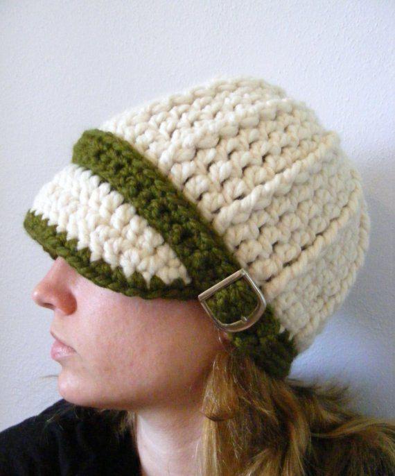 Custom Womens Hat 34 Colors Crochet Winter Hat Womens Beanie Crochet Hat  Knit Buckle Beanie Visor Ha 2a0f259c6242