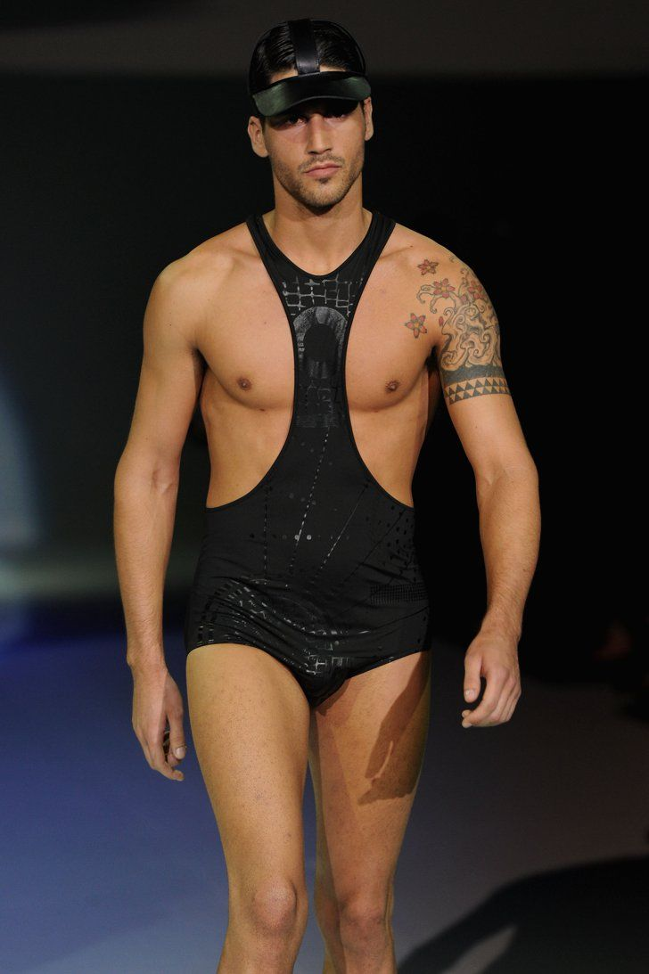 f2a32ec540964 Pin for Later: 12 Hot Runway Looks We Would Like to See on Jamie Dornan A  Mankini Think Borat, just way better.