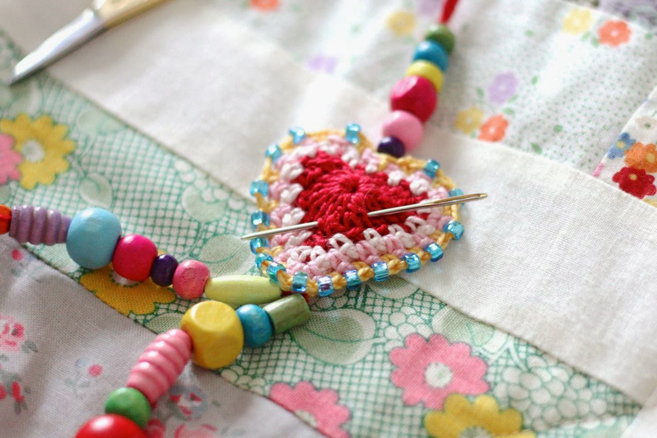 Using my new Boho Hearts pattern to make some dingly dangly pendants.