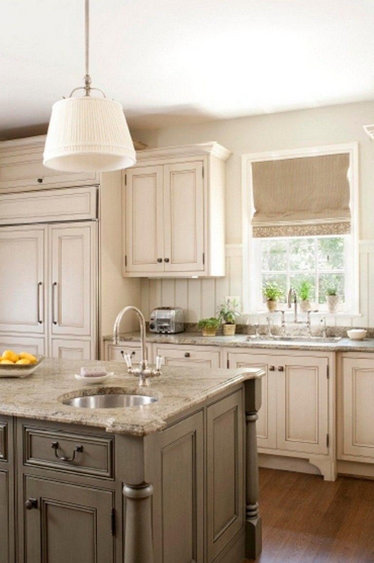 50 Easy And Elegant Cream Colored Kitchen Cabinets Design Ideas In 2020 New Kitchen Cabinets Kitchen Design Kitchen Renovation