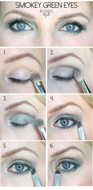 Beauty Tips, Makeup Tutorial, Green Eyeshadow Green