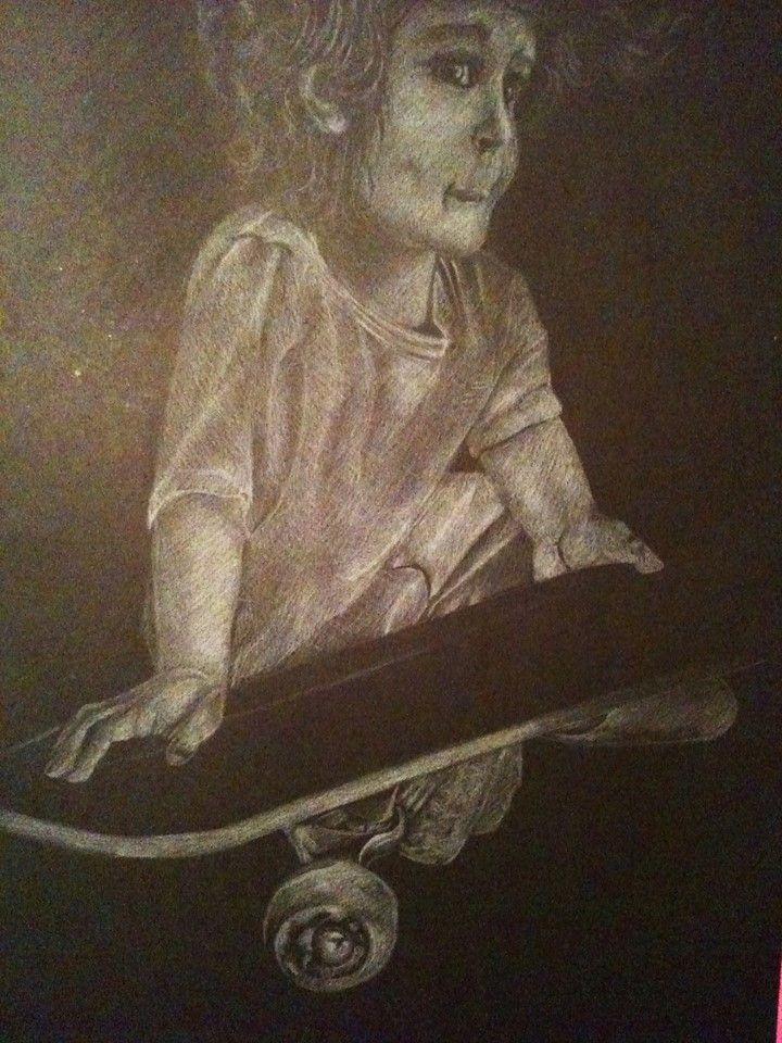 Dibujo en blanco sobre negro (ejemplo)