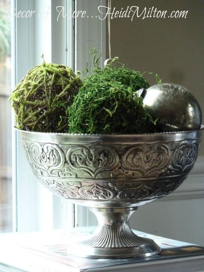 DIY Moss Balls Home Pinterest Bowls DIY Ideas And Decorating Impressive Decorating With Moss Balls