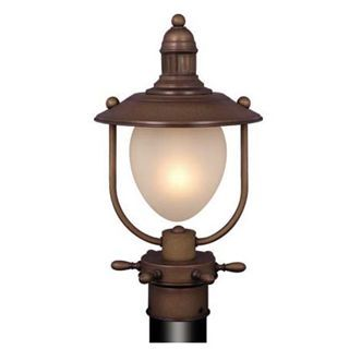 Nautical One Light Indoor Outdoor Post Lantern Outdoor