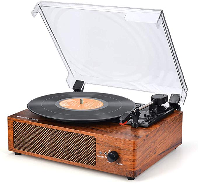 Amazon Com Record Player Turntable 3 Speed Vinyl Record Player With Stereo Speaker Belt Driven Vintage Vinyl Player Vintage Record Player Vinyl Record Player