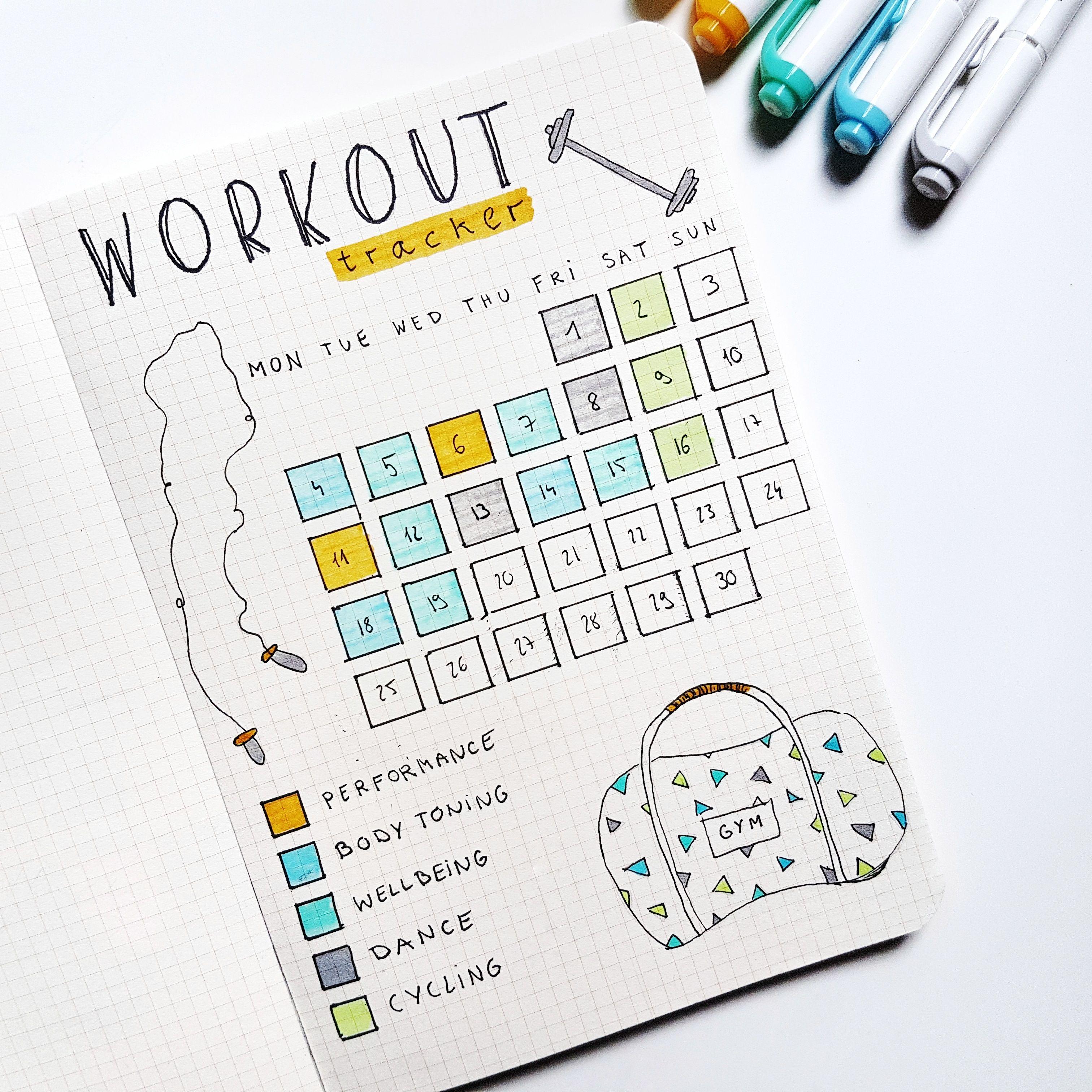 Habit Tracker for Women Exercise 2019 Weight Loss Journal
