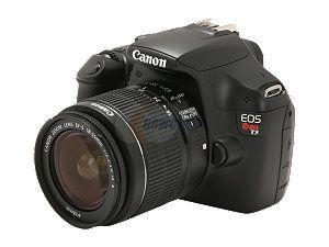 "Canon EOS REBEL T3 Black 12.2 MP 2.7"" 230k LCD Digital SLR Camera with EF-S 18-55mm Lens"