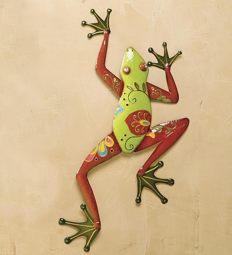 Talavera Painted Metal Frog Wall Art - all of the beauty, but none ...