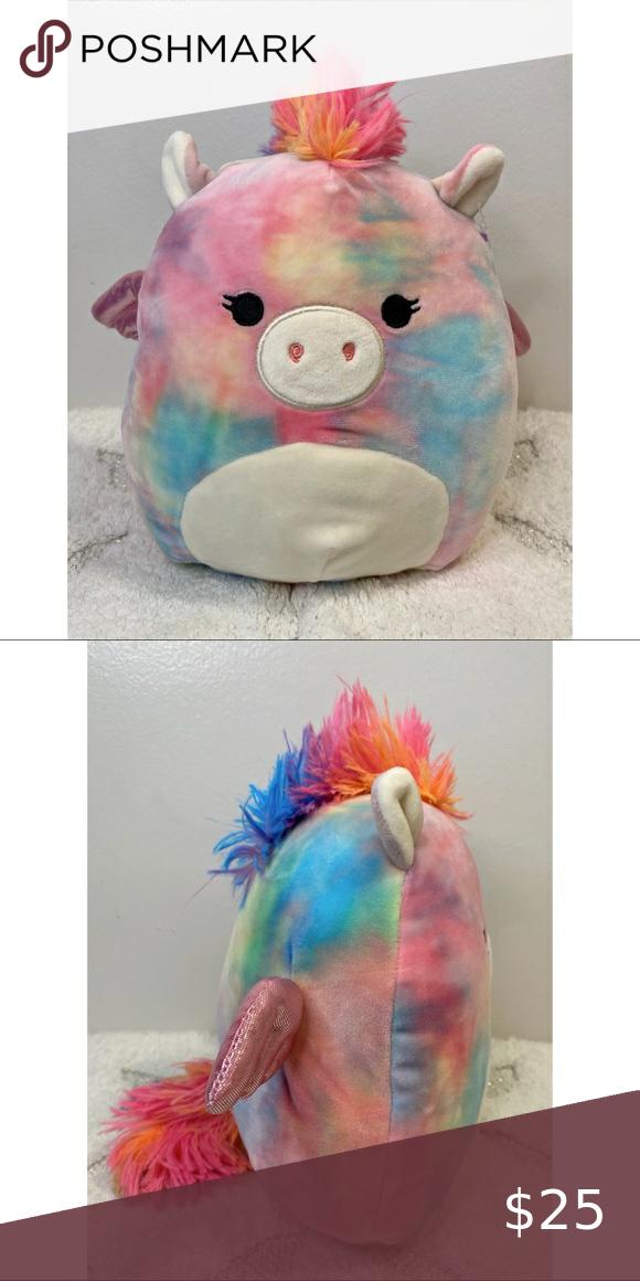 Squishmallows Jaime The Rainbow Pegacorn Plush Pet Toys Plush Winged Horse