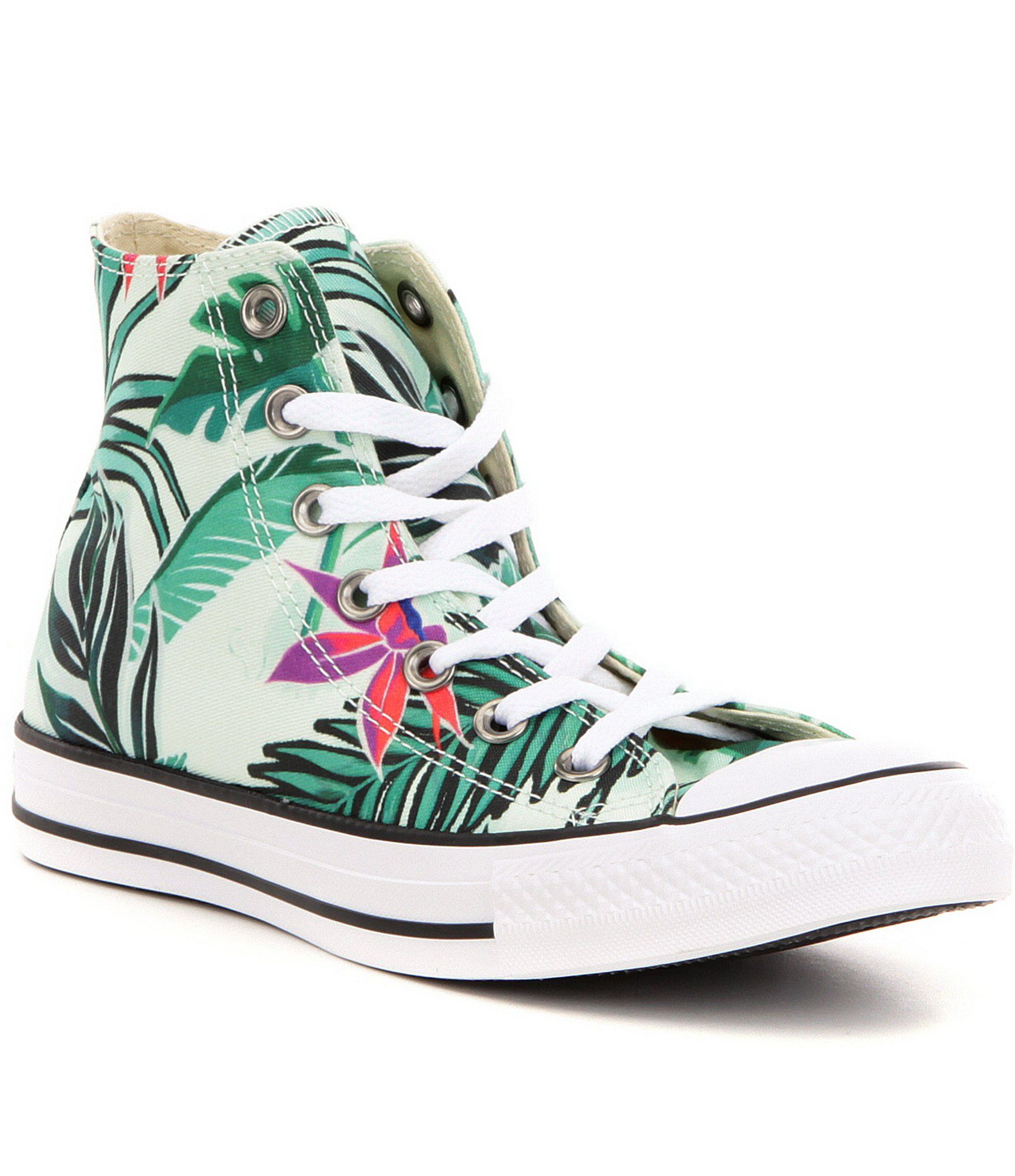d13020d38c7c78 Converse Women´s Chuck Taylor® All Star® Hi-Top Floral Print Lace Up  Sneakers  Dillards