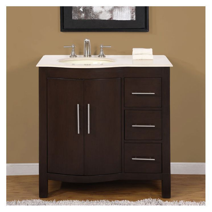 Kimberly 36 Single Sink Bathroom Vanity Set Single Sink