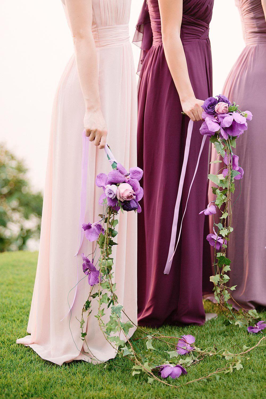 Magical Thailand Wedding Overlooking The Andaman Sea Ruffled Wedding Bridesmaid Dresses Purple Wedding Dress Bridesmaid Purple Wedding [ 1500 x 1000 Pixel ]