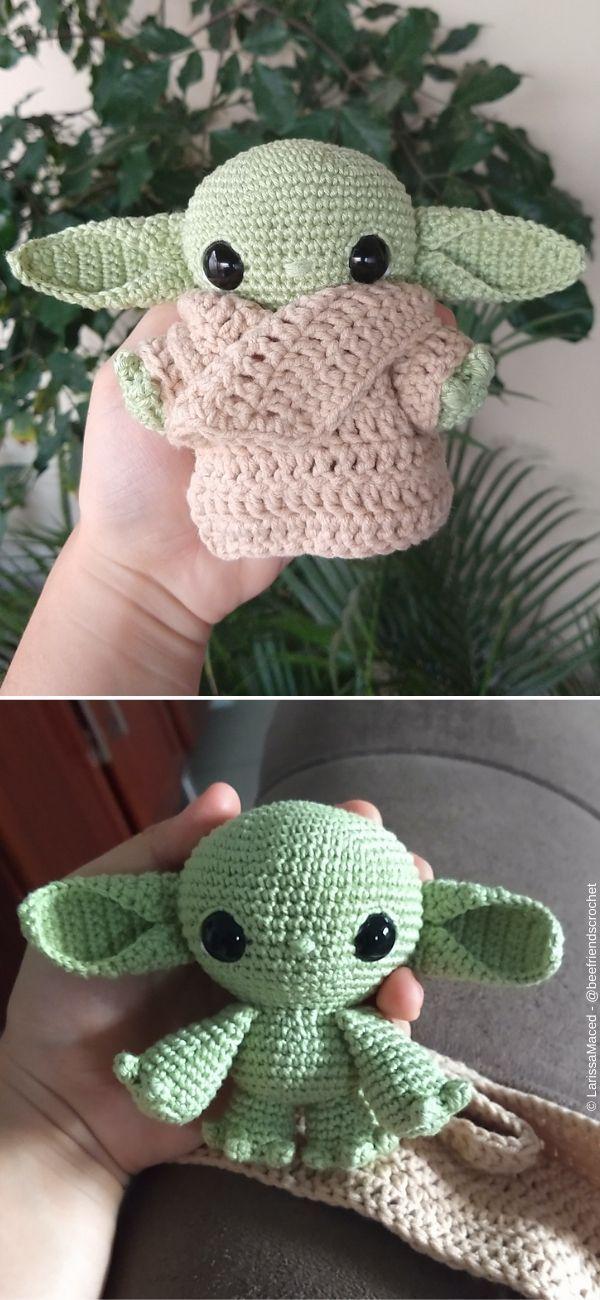 Photo of #Strick-Babydecke Baby Yoda Amigurumi Free Crochet Pattern – #Strick-Babydecke ….,  #Amigur…
