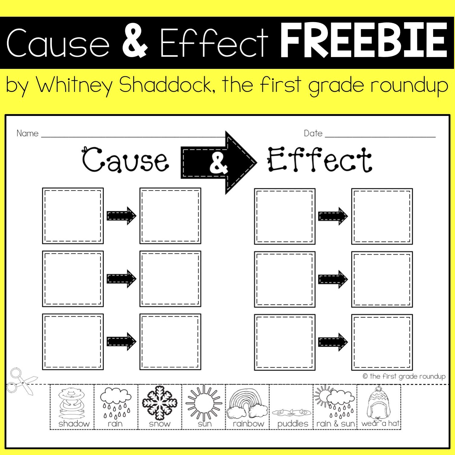 Cause And Effect Weather Freebie