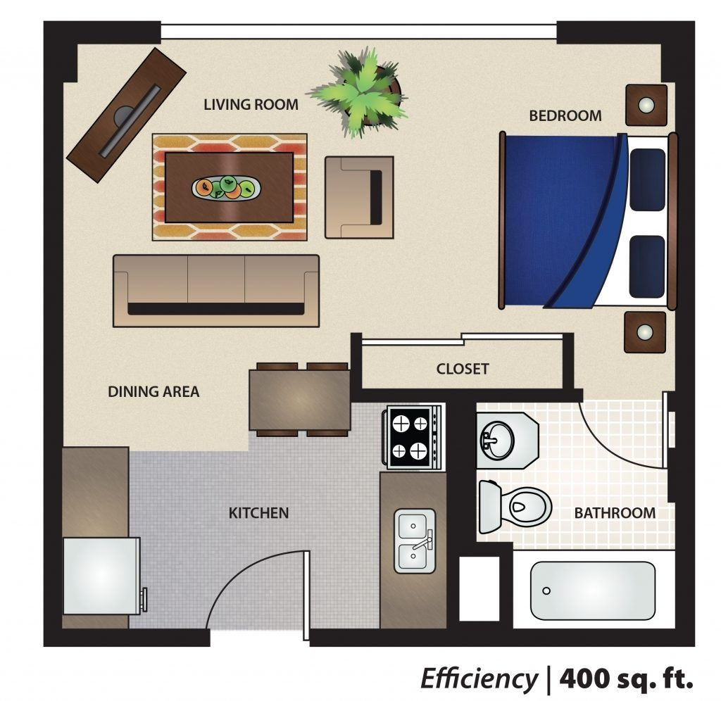 Image Result For 400 Square Foot Studio Floor Plan