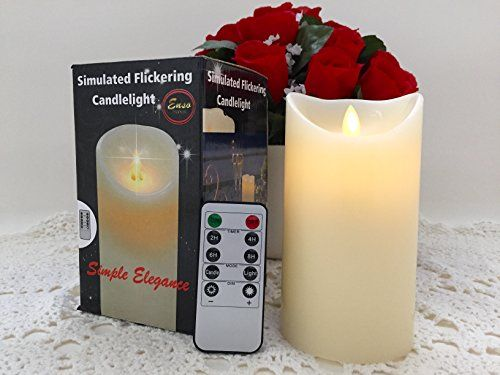 """Simple Elegance Flameless Candles Remote Timer Included Real Wax Real Flickering Motion LED Candles, Premium Quality 3.2""""x6"""" Best Flameless Candles - Great Gift Ideas *** More info @"""