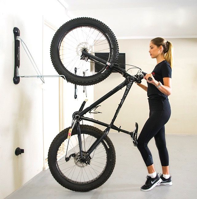 rack store a wall bike storage for mount detail swivel the steadyrack garage