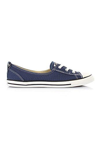 3625ce5a678d Converse Women s Chuck Taylor All Star Canvas Ballet Lace Slip-On Fashion  Sneaker Navy 8.5