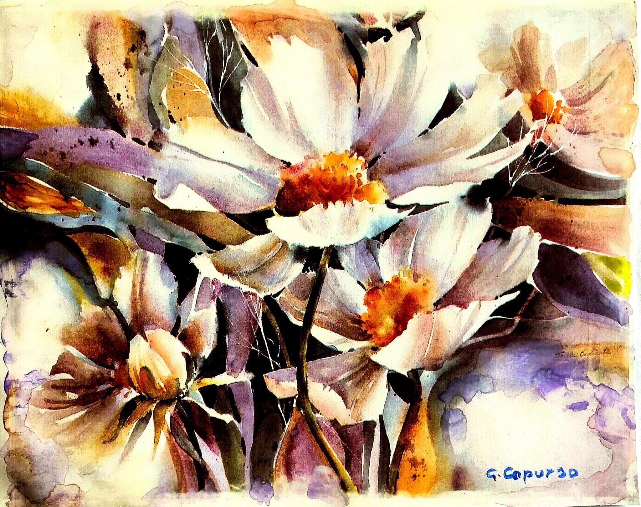 Acquerelli Bambini ~ Fiori acquerello fiori ad acquerello pinterest