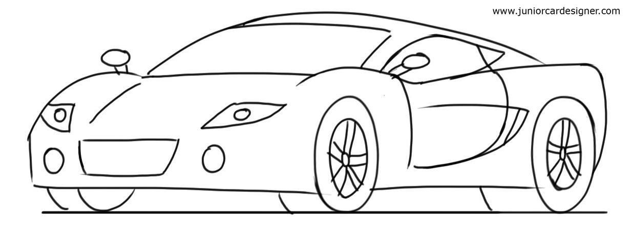 Car Drawing Tutorial Sports Cars 3 4 Front View Cars And Bikes