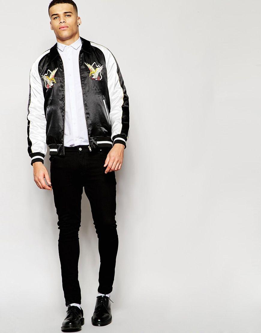 ASOS Souvenir Jacket with Eagle Embroidery at asos.com. Bomber JacketsMen's  ...
