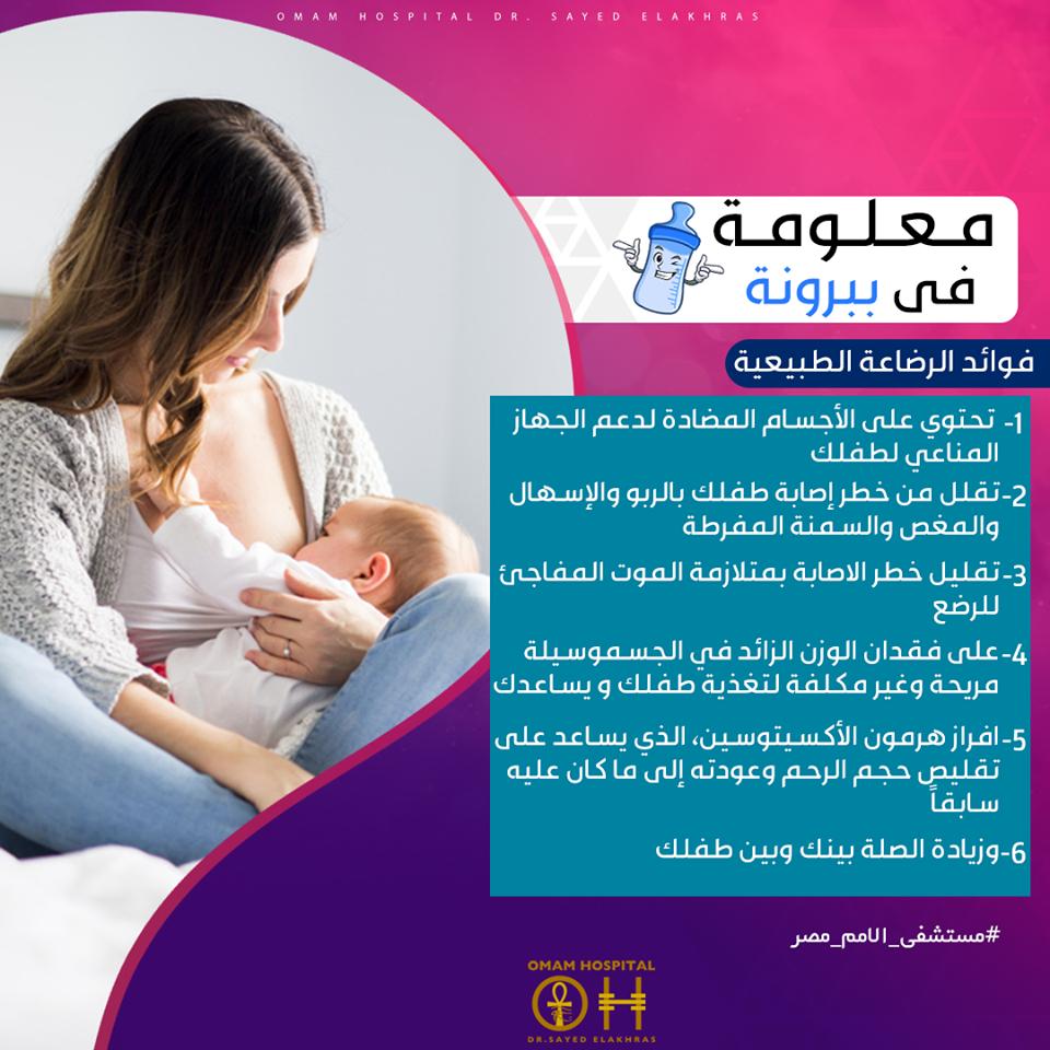 فوائد الرضاعة الطبيعية 1 الرضاعة الطبيعية توفر التوازن الأمثل للعناصر الغذائية لطفلك فهي تحتوي على الأجسام المضادة لدعم الجهاز المناعي لطفلك 2 تقلل من خطر إصا