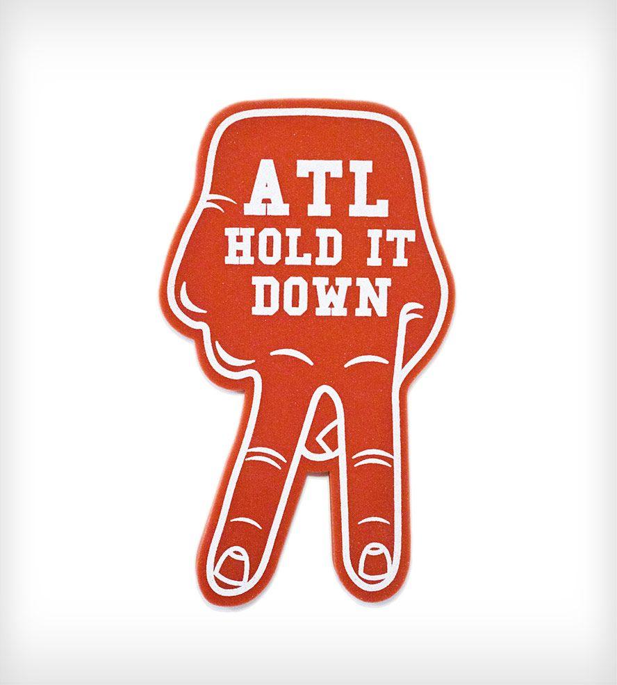 Atl Foam Hand Red By Esperanza Atlanta Get Your Foam Hand Here For A Whole Summer Of Repping Atlanta Atl Atl Georgia Foam