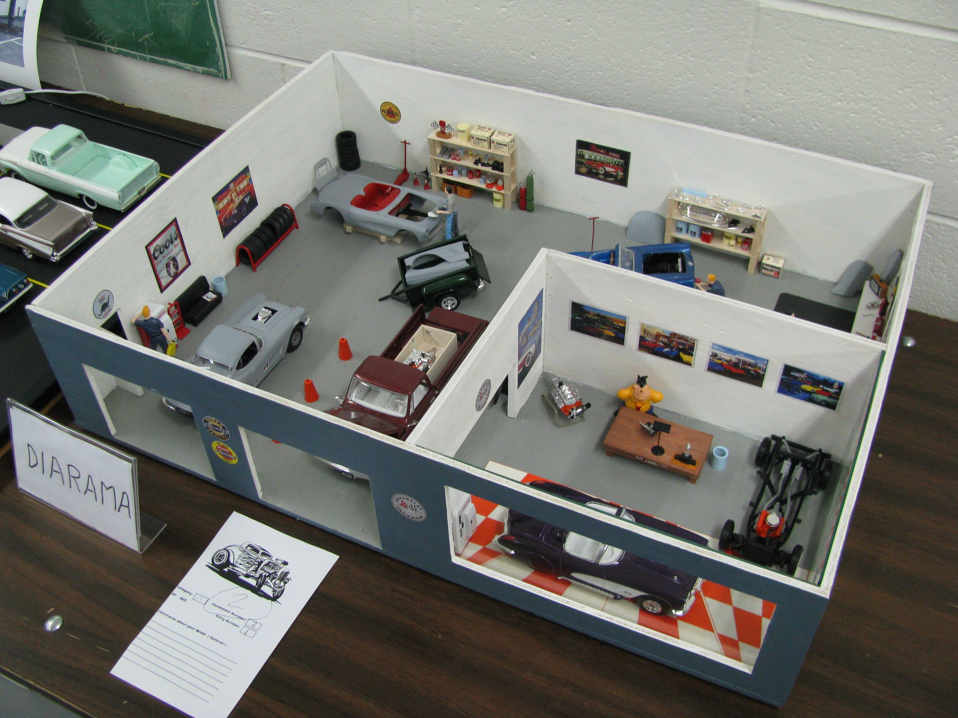 View photo of Corvette C1 Shop Diorama 3,667KB (With