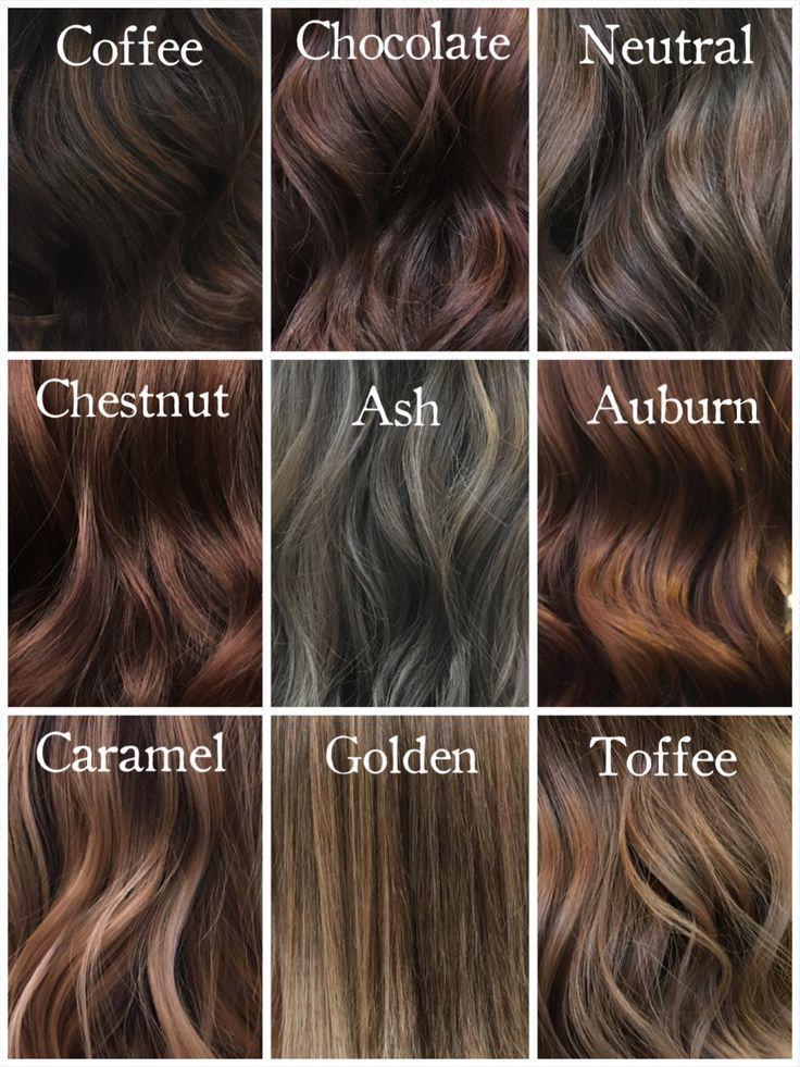 Shades of Brunette @milenashairdesign #hairinspiration #chocolatehair #coffeehai …