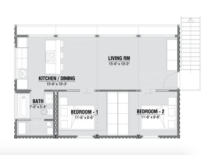 Contemporary Style House Plan 3 Beds 2 Baths 2320 Sq Ft Plan 924 1 Shipping Container Home Designs Container House Building A Container Home
