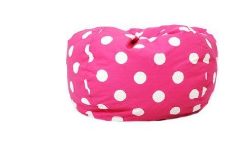 Amazon.com: Classic Bean Bag with White Dots Color: Pink Dot: Furniture & Decor