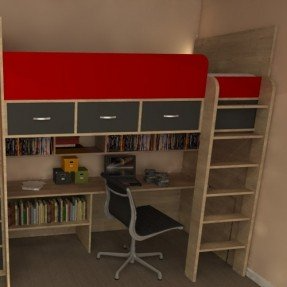 Bunk Bed With Desk Under Ideas On Foter In 2021 Box Room Bedroom Ideas High Sleeper Bunk Bed With Desk