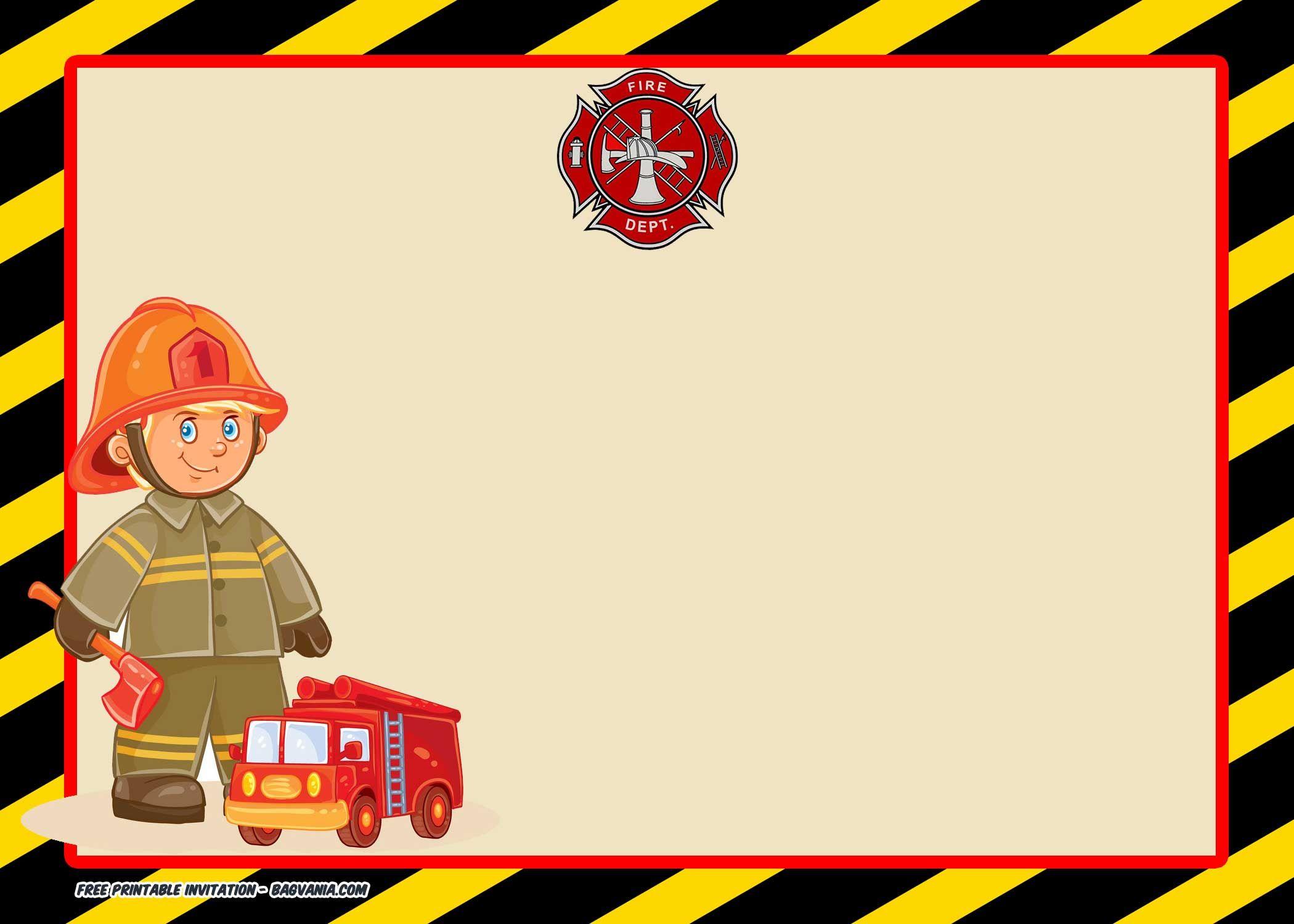 Free Printable Fireman Invitation Templates Free Printable Invitations Templates Free Printable Birthday Invitations Firefighter Birthday