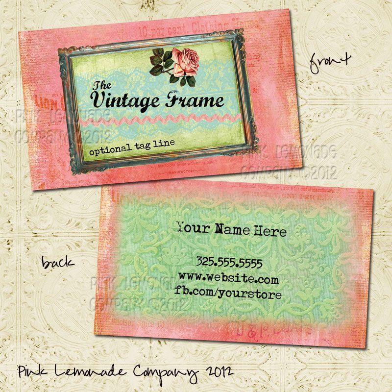 Vintage frame business card design plus 500 by pinklemonadecompany vintage frame business card design plus 500 by pinklemonadecompany 5500 reheart Images
