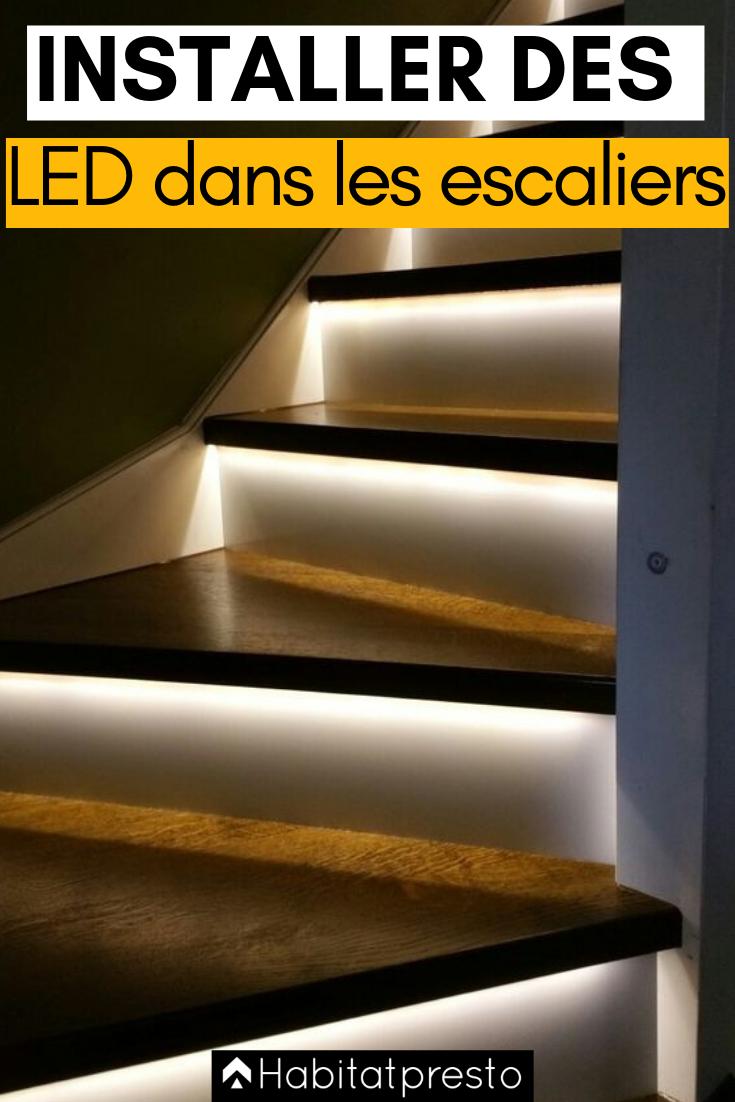 Eclairer Un Escalier Avec Des Led 5 Idees Faciles Et Tendance Led Escalier Eclairage Escalier Renovation Escalier Bois