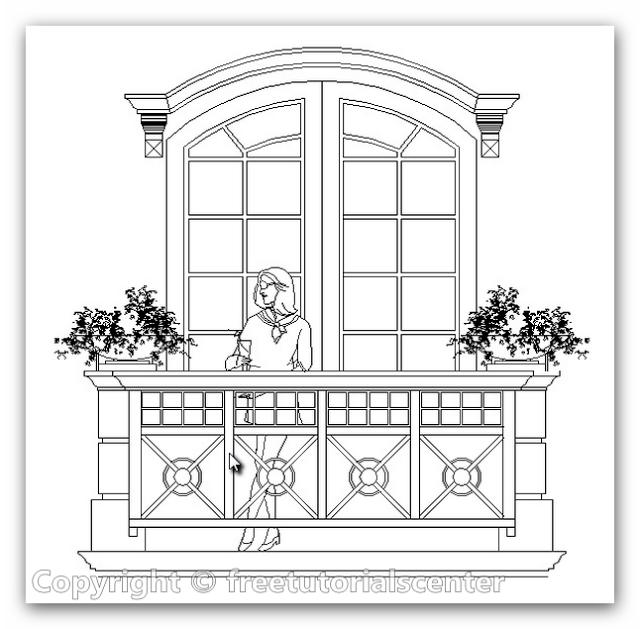 Stone Work In Elevation Symbol : Balcony block autocad blocks single stone and iron