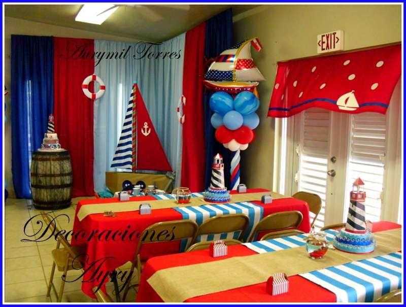 Nautical birthday party ideas cumplea os fiesta n utica for Decoracion nautica infantil