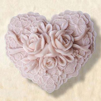 Heart Faithful Flower Silicone Mould Handmade Soap Mold Candle Mold | WholePort.com