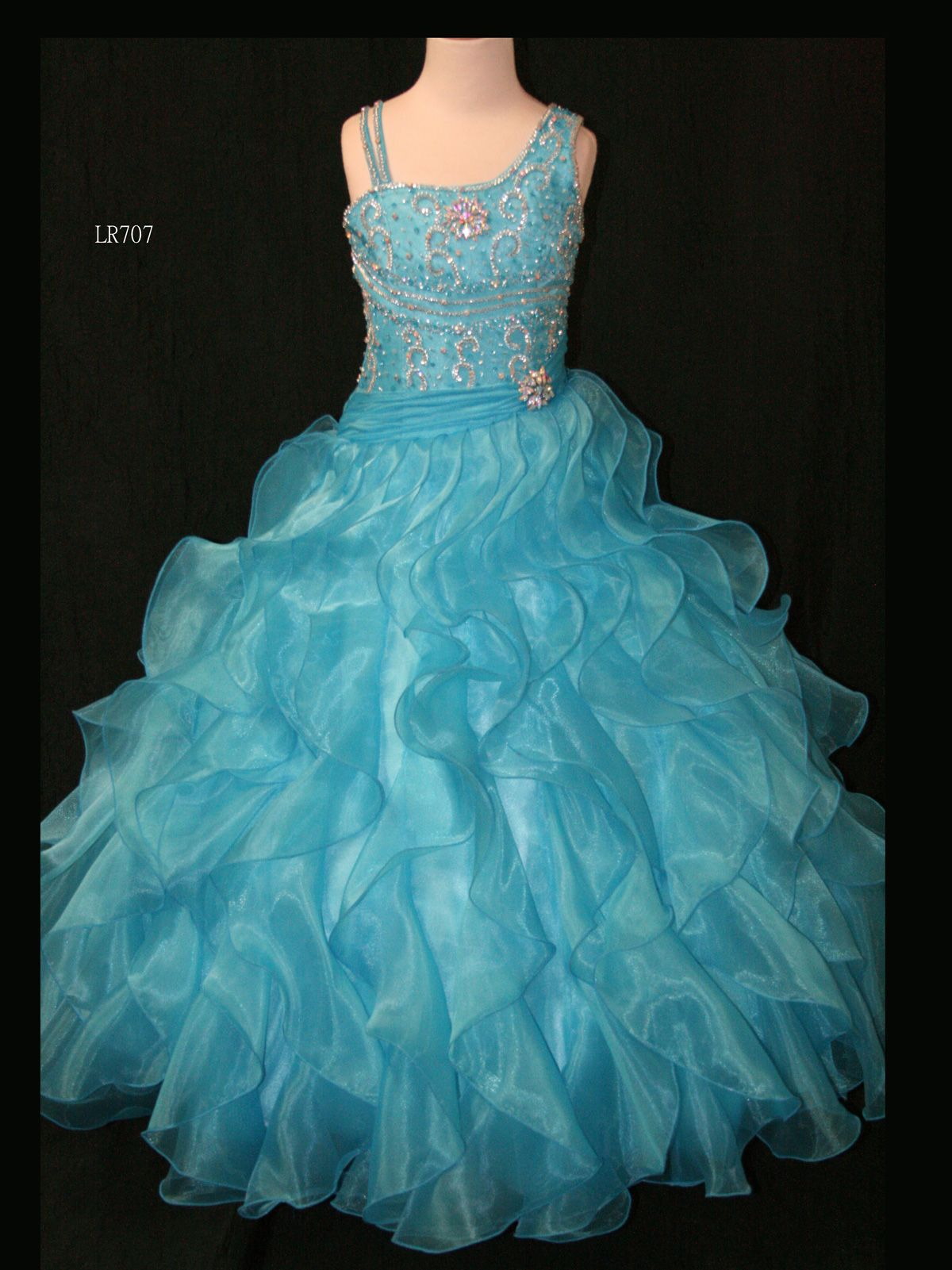 Lovely Little Rosie Pageant Dress LR707. This organza pageant dress ...