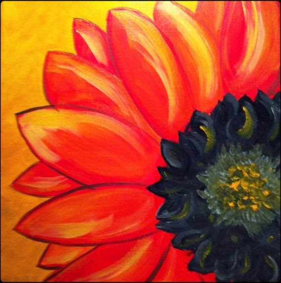Original Acrylic Painting on 12x12 Canvas - Painting Home