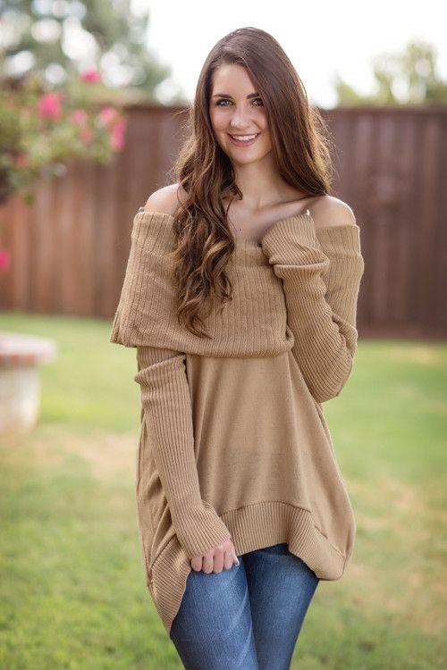Fall Fashion, Fall Sweater, Cowl Neck Sweater, Off Shoulder ...