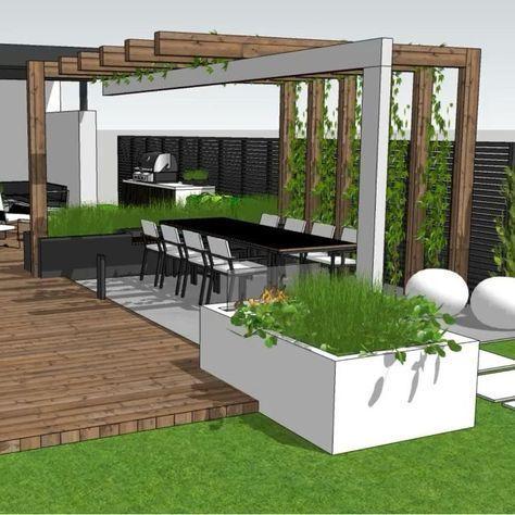 """Photo of Therese Knutsen en Instagram: """"Acabo de entregar este diseño🌿 ¿Irías por algún 🍒 color en tu jardín? :-) ¡Tan emocionado de escuchar la opinión de mis clientes! Gard # gardendesign … """""""