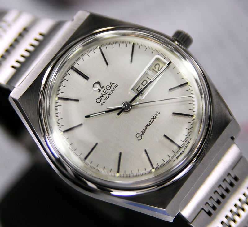 1a2a59dab23 MENS OMEGA SEAMASTER AUTOMATIC CAL 1020 SILVER DIAL DAY DATE DRESS WATCH   Omega  LuxuryDressStyles