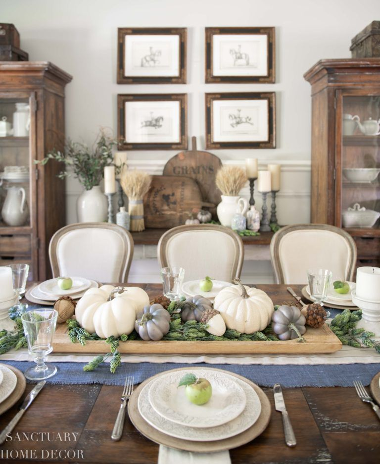 Warm and Cozy Fall Home Tour (With images) Fall table
