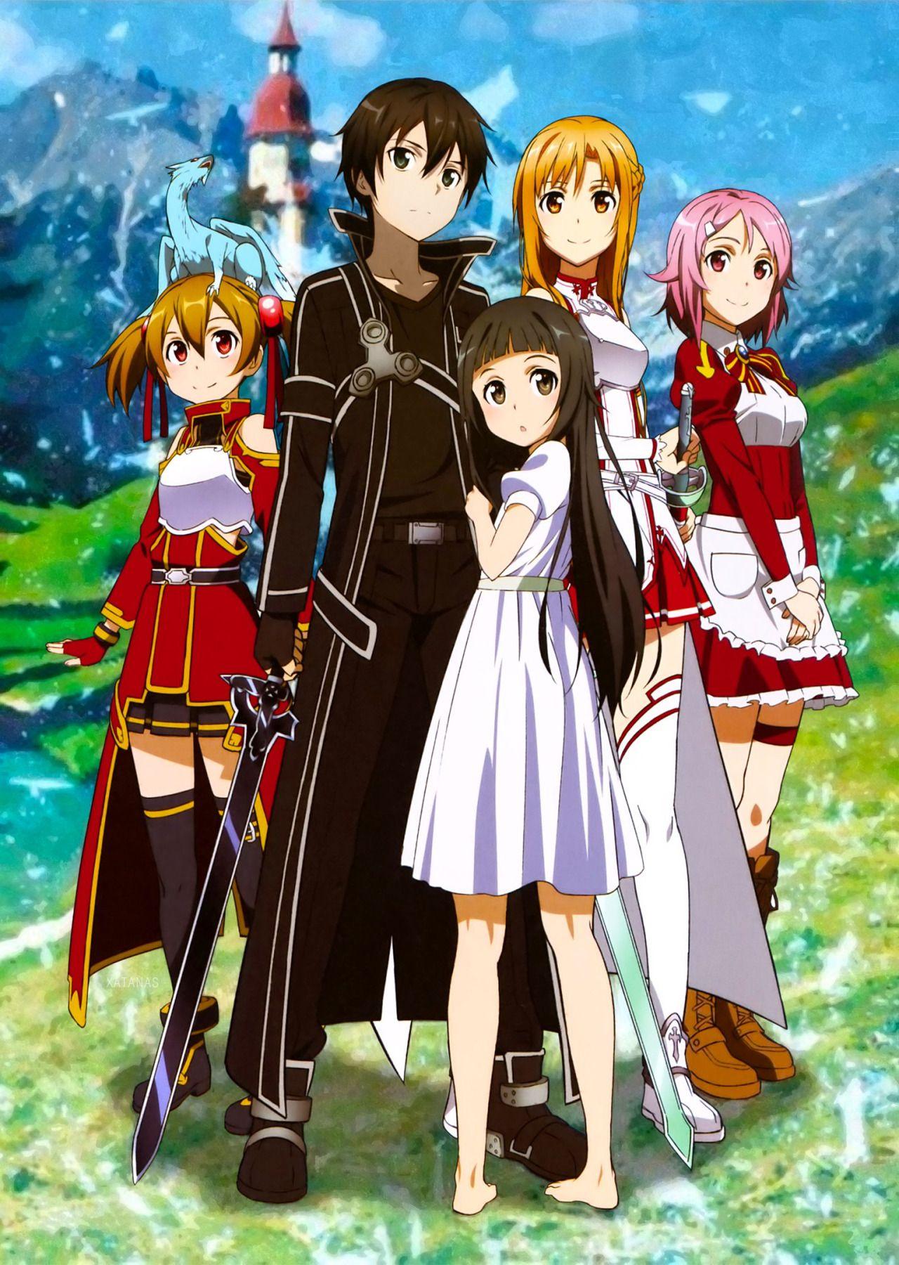 sword art online silica kirito yui asuna amp lisbeth