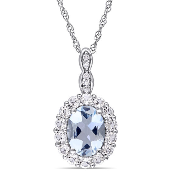 Zales Marquise White Topaz and Diamond Accent Pendant in 10K Gold Q1PIfIBMe